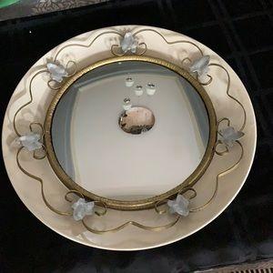 Convex mirror vintage metal